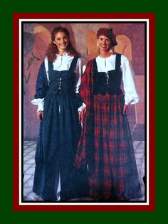 HIGHLAND BEAUTY- Costume Sewing Pattern-Historical Celtic Dress-Lace-Up Weskit- Skirt-Hat-Shawl-Blouses-Size 12-16-Uncut-Rare by FarfallaDesignStudio on Etsy
