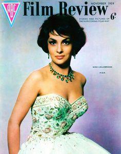 Gina Lollobrigida Film Review vintage film magazine cover art 1959 11x14 print   eBay
