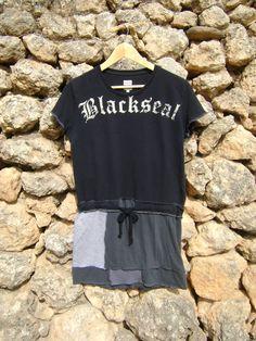Tunic Dress Yoga Wear Upcycled Tshirt dress. $50.00, via Etsy.