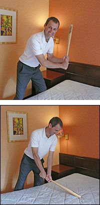 Bed thwacking - Clear old energies from your mattress