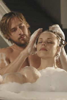 Ryan Gosling & Rachel McAdams and Noah & Allie in The Notebook