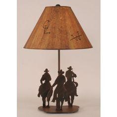Iron Cowboy Riders Lamp | Western Decor