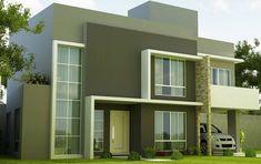 Resultado de imagen para fachadas de casa de dos pisos con terraza