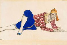 Leon Bakst, Costume design for Vaslav Nijinsky as Chinese Dancer in Les…