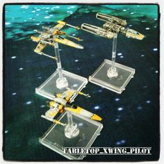 Yellow rebels. X-wing miniatures.