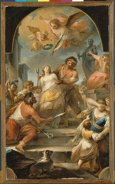 Le martyre de sainte Agathe Auteur : Rossi Mariano (1731-1807)