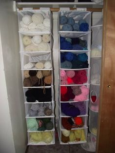 great closet storage for yarn wallies