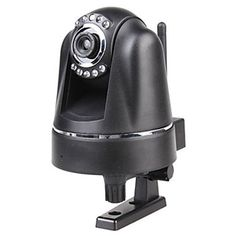 Wireless Pan Tilt IP Network Camera CCTV with MJPEG, 9 IR LEDs, 2-way Audio and IR Distance 15m