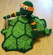 Ravelry: Ninja Turtle Lovey Blankie pattern by Knotty Hooker Designs