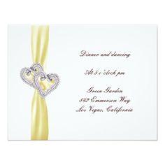 "Custom Lemon Hearts Reception Card 4.25"" X 5.5"" Invitation Card http://www.zazzle.com/custom_lemon_hearts_reception_card_invitation-161952465542543318?printquality=4color&rf=238271513374472230  #wedding"