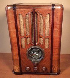 "ZENITH Model 5S-29 ""Black Dial"" Art Deco Radio (1935)"
