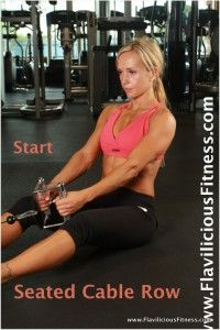 Seated Cable Row Exercise For Women