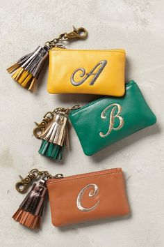 """Pin for Later: 40 Holiday Gifts Under $50 to Give All Your """"Aunts"""" and """"Cousins"""" Coin Purse Miss Albright Tasseled Monogram Coin Pouch ($32)"""