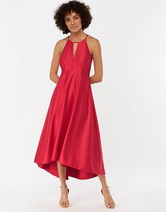 For perfect party dresses, elegant eveningwear and stylish occasion pieces, explore our new range. Let our women's and children's collections inspire you. Style Finder, Cut Out Design, Perfect Party, Satin Dresses, Girls Shopping, Mannequin, Pink Dress, Fit And Flare, Casual Wear