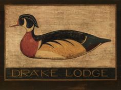 Warren Kimble | Warren Kimble Paintings - Warren Kimble Drake Lodge Painting