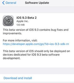 Download iOS 9.3 beta 2 for iPhone 6S, iPhone 6S Plus, iPhone 6