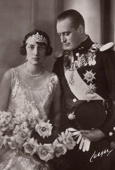 Crownprince Olav of Norway and fianceé, Princess Martha of Sweden