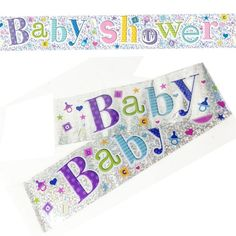 One pack contains two banners. Party Banners, Reveal Parties, Some Ideas, Fun Games, Baby Shower Decorations, Christening, Party Supplies, Birthdays, Outdoor Blanket