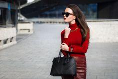 Mirella Szymoniak - Sheinside Skirt, Blackfive Bag - Paint it red! | LOOKBOOK