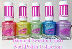 Rimmel Sweetie Crush Nail Polish Collection Swatches & Review via @BlushingNoir