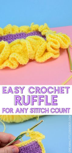 Want to surround your crochet project with a fun frill with ease? This crochet ruffle could NOT be easier and it doesn't matter how many stitches you have!