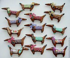Собачки летние кофейные Магнитики