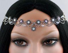 Whitney Set  Silver Filigree Rhinestone Bridal by CastalynStudios, $58.00