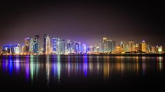 A night sky: Doha after dark (http://lightbox.com/photo/miRlRf2)