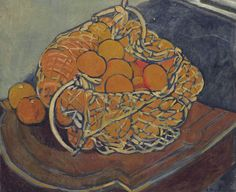 Basket with Peaches, by Louis Valtat (French, 1869–1952).