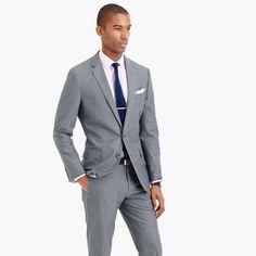 Ludlow suit jacket in Italian cotton oxford cloth - suiting -Men- J.Crew
