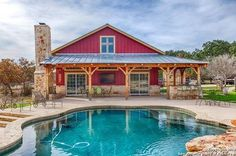 This is actually a pool house, but this is my FAVORITE Texan exterior without looking too craftsman!!!!!!