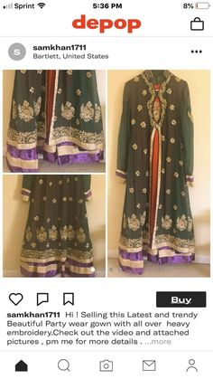 af180dbed9 Indian/ Pakistani Gown 4 Peices. Bust Size:36 #fashion #clothing #shoes  #accessories #weddingformaloccasion #weddingdresses (ebay link)