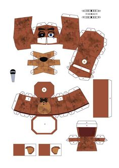 FNAF 2 old freddy papercraft by Adogopaper on DeviantArt Five Nights At Freddy's, Cardboard Crafts, Paper Crafts, Fnaf Coloring Pages, Fnaf Freddy, Villains Party, Fnaf Characters, Bendy And The Ink Machine, Fandom