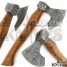 Knives Exporter New Custom Damascus Best Bearded Felling Hatchet / Axe 546 Axe Head, Custom Knives, Damascus Steel, Selling On Ebay, Vikings, Weapons, Store, Handmade, Weapons Guns