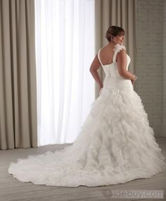 Tidebuy.com Offers High Quality Awesome A-line V-neck Floor-Length Chapel Ruched Plus Size Wedding Dresses, We have more styles for 2012 Summer Fashion Trends (Free Shipping)