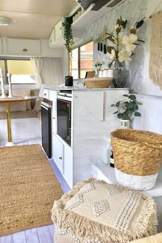 caravan renovation ideas 4574037110233476 - The ultimate Kmart caravan makeover Caravan Interior Makeover, Caravan Renovation Diy, Airstream Interior, Vintage Airstream, Vintage Caravans, Camper Makeover, Caravan Hacks, Caravan Decor, Retro Caravan