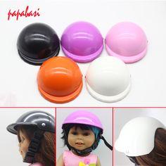 1Pcs 13*12cm Sports safety helmet Sun Helmet Hat For 18inch American girls Doll helmet Accessories Gift toy