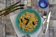 Risotto de pâtes aux asperges, poulet et parmesan Coconut Flakes, Macaroni And Cheese, Pasta, Penne, Cabbage, Vegetables, Cooking, Ethnic Recipes, Food