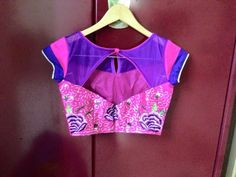 Saree blouse back pattern