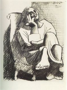 Pablo Picasso (1881-1973)  Femme assise. 1920