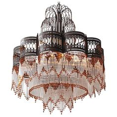 Huge Pair of Italian Murano Glass Chandeliers | From a unique collection of antique and modern chandeliers and pendants  at https://www.1stdibs.com/furniture/lighting/chandeliers-pendant-lights/