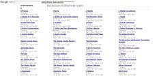 Google Newspaper Archive: a collection of almost 2500 old - and some newer - newspapers