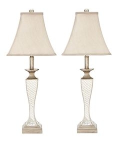 This Chrissy Glass Lattice Lamp - Set of Two by Safavieh is perfect! #zulilyfinds