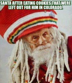 Santa after eating cookies that were left out for him in Colorado. - Real Funny has the best funny pictures and videos in the Universe!