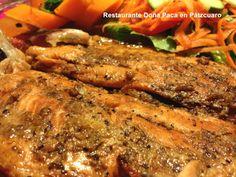Trucha producida en estanques michoanos, un platillo sano y nutritivo, pruébalo en Restaurante Doña Paca en Pátzcuaro!