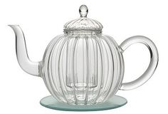 Glass teapot with infuser ...Infusers are for people who don't know tea pero quiero esto de cualquier manera... Aunque ya tengo 6. :|