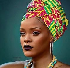 The headwrap originated in sub-Saharan Africa and serves similar functions for both African and African American women. In style, the African American woman's headwrap exhibits the features of sub-Saharan aesthetics and worldview African Men Fashion, African Beauty, African Women, African Style, African Hair Wrap, African Head Wraps, Scarf Hairstyles, African Hairstyles, Fashion Hairstyles
