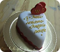 Two pieces of one heart in a cake...