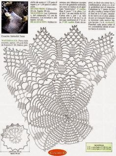 Kira scheme crochet: Scheme crochet no. Filet Crochet, Crochet Doily Diagram, Crochet Stitches Patterns, Crochet Chart, Crochet Designs, Crochet Doilies, Crochet Books, Crochet Home, Thread Crochet