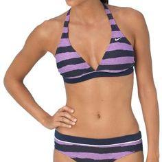 Nike Striped Halter Bra Bikini Top | $22.69 | Free Shipping